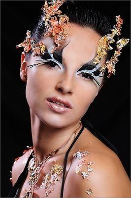модель Наталья Рысевамакияж Феликс Штейнс мастер класса по фейшен макияжу 2009г. Израиль